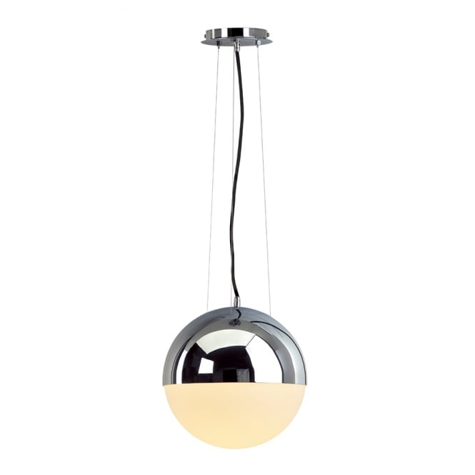 Intalite Big White BIG LIGHT EYE circular chrome & glass ceiling pendant light