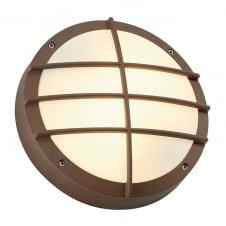 BULAN copper/rust circular garden wall light