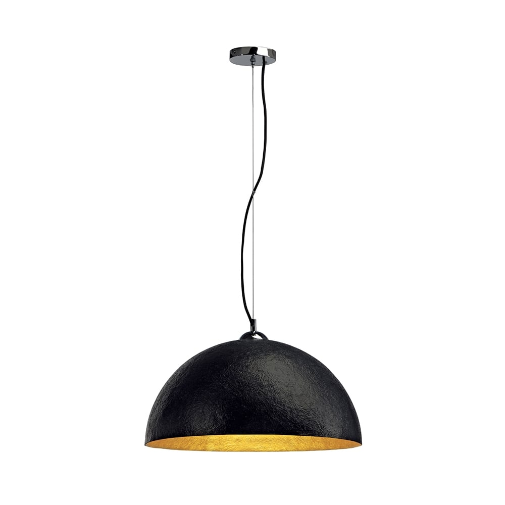 large black ceiling pendant for high sloping ceilings