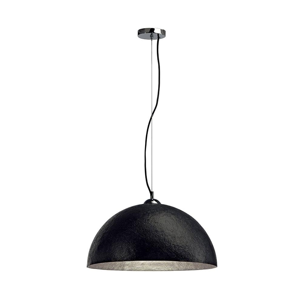 Large Black Fibre Glass Ceiling Pendant For High Ceilings