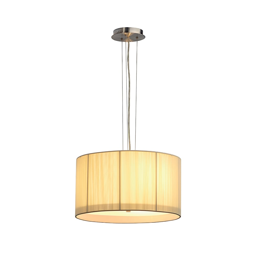 Circular beige ceiling pendant light for high ceilings for Pendant lighting for high ceilings