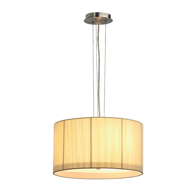 Intalite Big White LASSON beige drum shade ceiling pendant light