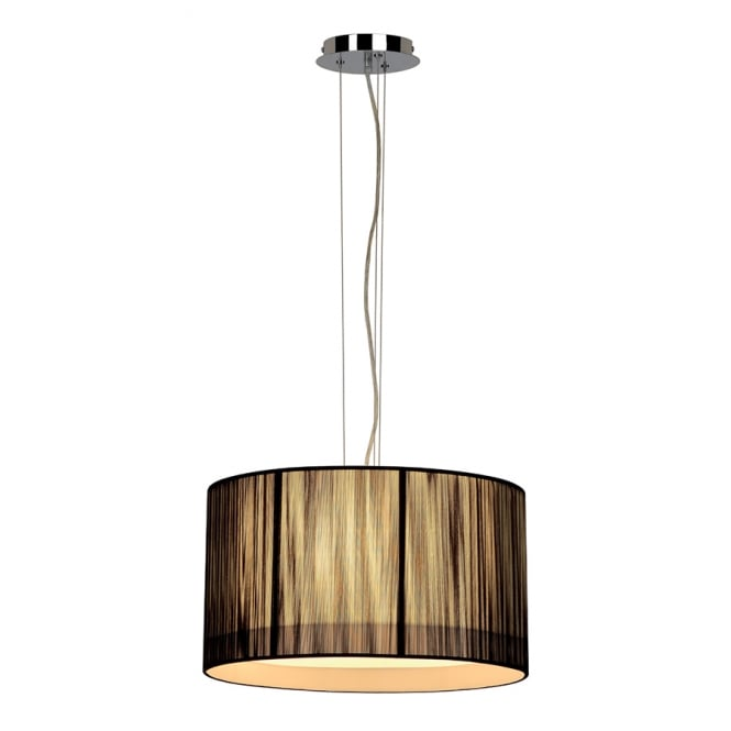 Intalite Big White LASSON black drum shade ceiling pendant light