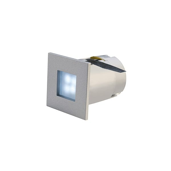blue led small square recessed stair or plinth light