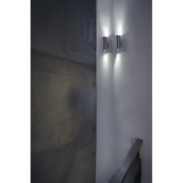Modern Interior or Exterior LED Wall Light in Brushed Aluminium