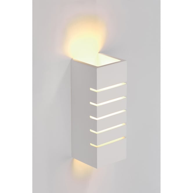 Intalite Big White SLOT contemporary plaster wall light