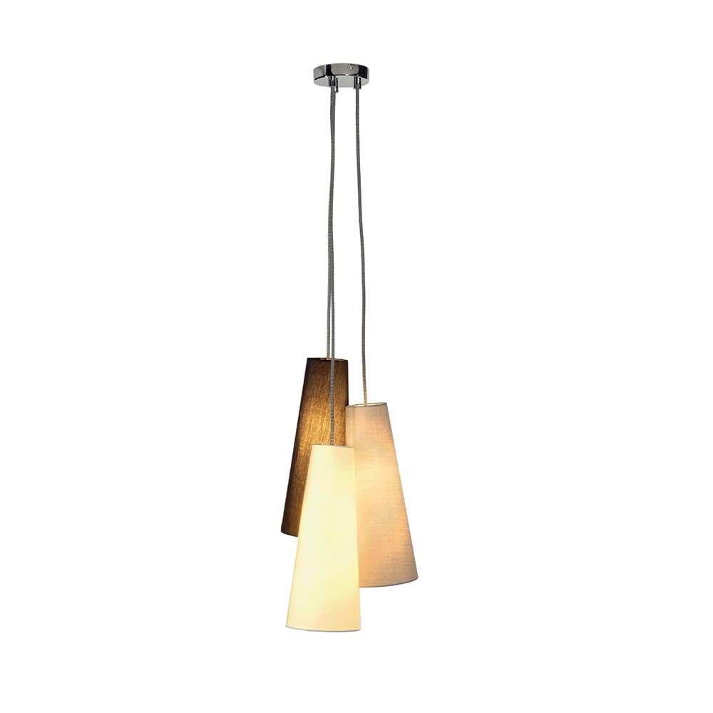 modern ceiling cluster pendant textile cone shades over. Black Bedroom Furniture Sets. Home Design Ideas