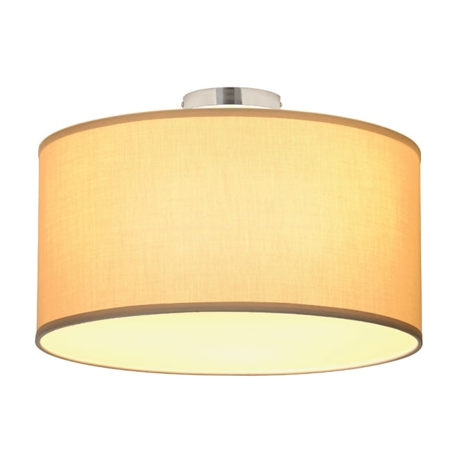 Intalite Big White SOPRANA modern ceiling light with beige shade