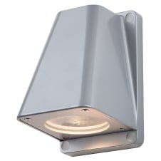 WALLYX silver grey outdoor garden wall light