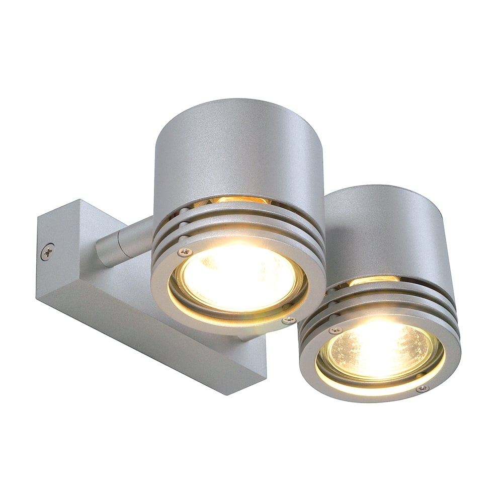 Wall Light Double Spotlight : Double or Twin Aluminium Spotlight for Ceiling or Walls