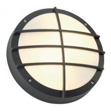 BULAN anthracite circular garden wall light