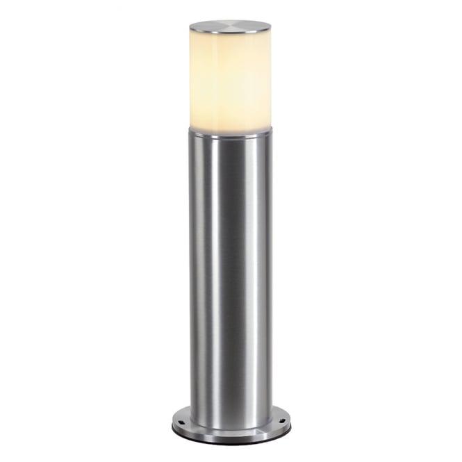 Garden Bollard Or Post Light In Brushed Aluminium