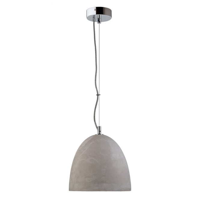 Intalite Big White SOPRANA SOLID concrete grey ceiling pendant with reflector