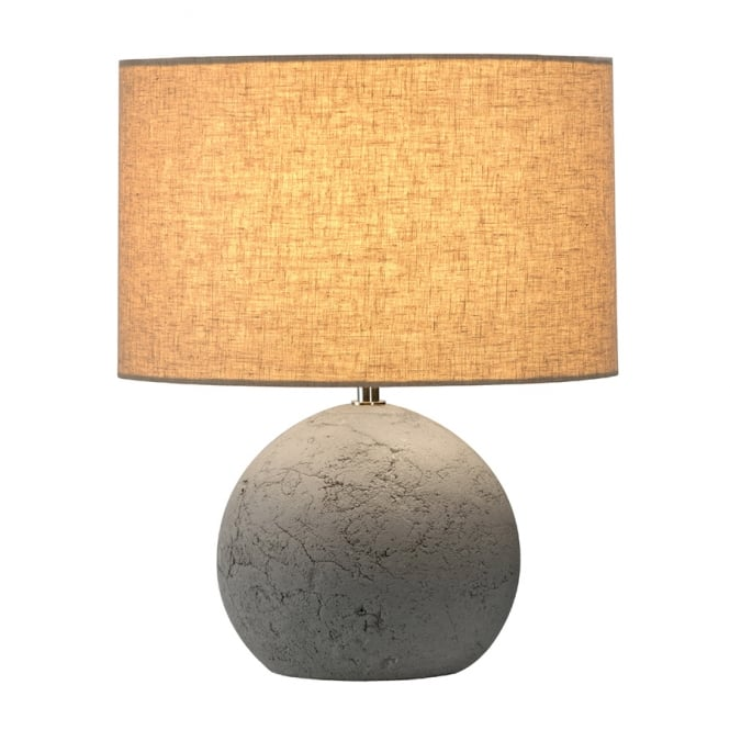 SOPRANA SOLID concrete round table lamp with shade