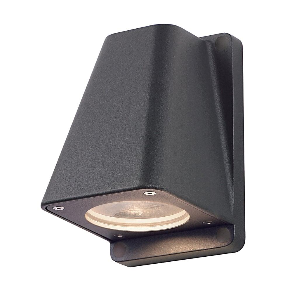 Anthracite Garden Wall Lights : Wallyx Dark Grey/Black Anthracite Garden Wall Light