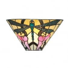 ASHTON Tiffany wall washer wall light in Art Nouveau style