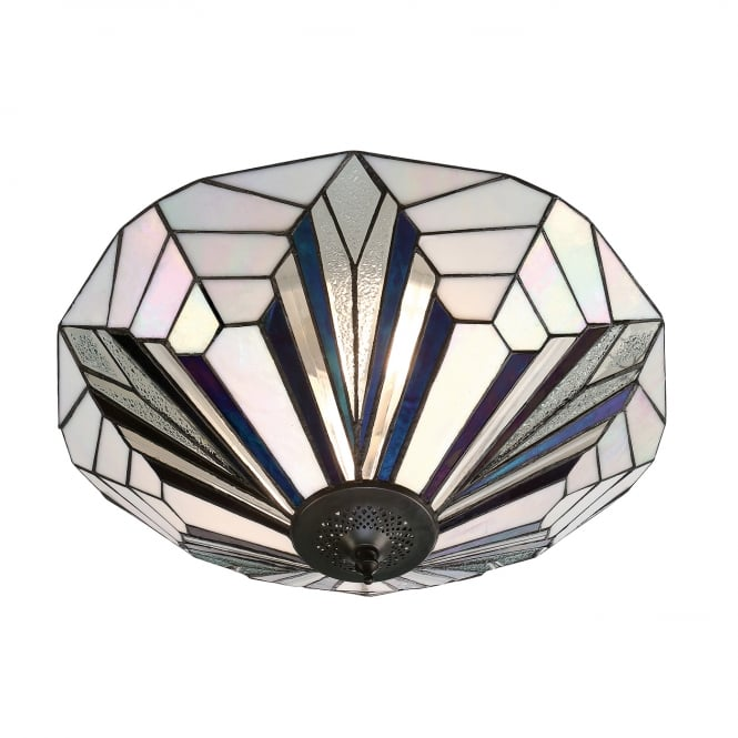 Interiors 1900 ASTORIA Tiffany flush ceiling light