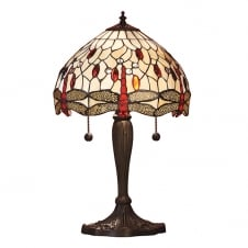 Tiffany table lamp with pull cord