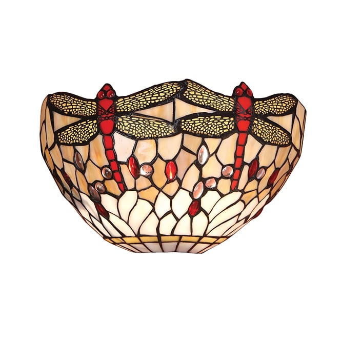 BEIGE DRAGONFLY Tiffany wall washer wall light