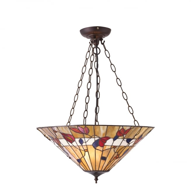 Interiors 1900 BERNWOOD Tiffany uplighter ceiling pendant