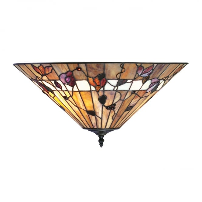 Interiors 1900 BERNWOOD Tiffany uplighter for low ceilings