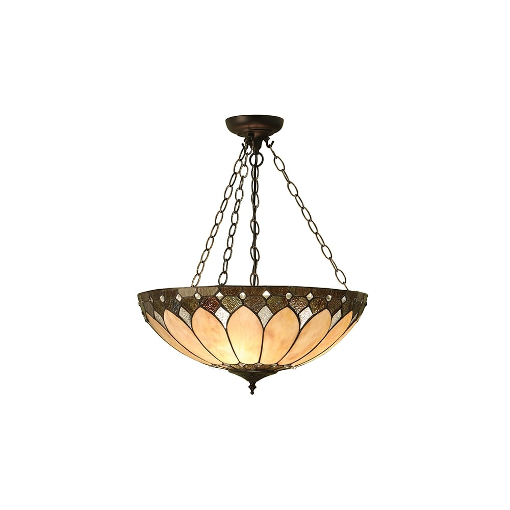 Tiffany art deco style uplighter ceiling pendant tiffany art deco style uplighter pendant arubaitofo Gallery