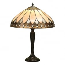 Art Deco Tiffany table lamp with bronze effect base