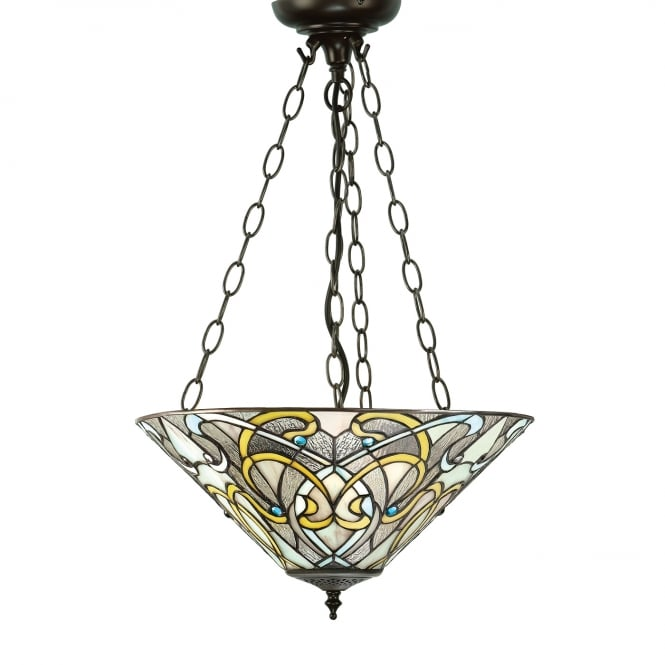 Interiors 1900 DAUPHINE Art Nouveau Inverted Ceiling Pendant