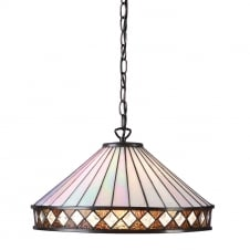 FARGO Art Deco Style Tiffany ceiling pendant light, medium