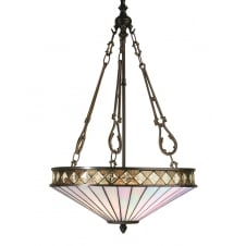 FARGO Art Deco Tiffany style uplighter ceiling pendant light