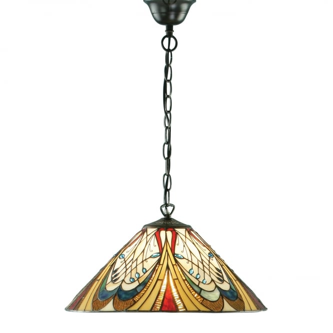 Interiors 1900 HECTOR Art Nouveau Tiffany ceiling pendant light