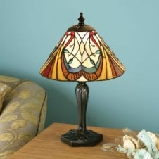 HECTOR small Art Nouveau Tiffany table lamp