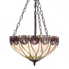Tiffany Art Nouveau ceiling pendant uplighter