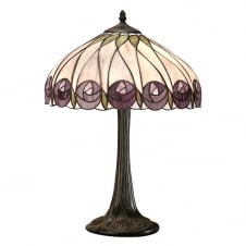 Tiffany Art Nouveau Rose Design Table Lamp