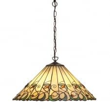 Tiffany Art Nouveau Ceiling Pendant Light