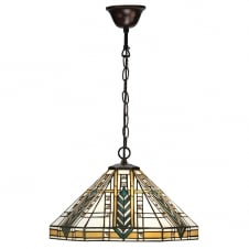 Tiffany Art Deco Design Ceiling Pendant