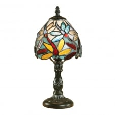 LORETTE small mini Tiffany dragonfly table lamp