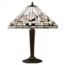 METROPOLITAN Tiffany table lamp Art Deco style