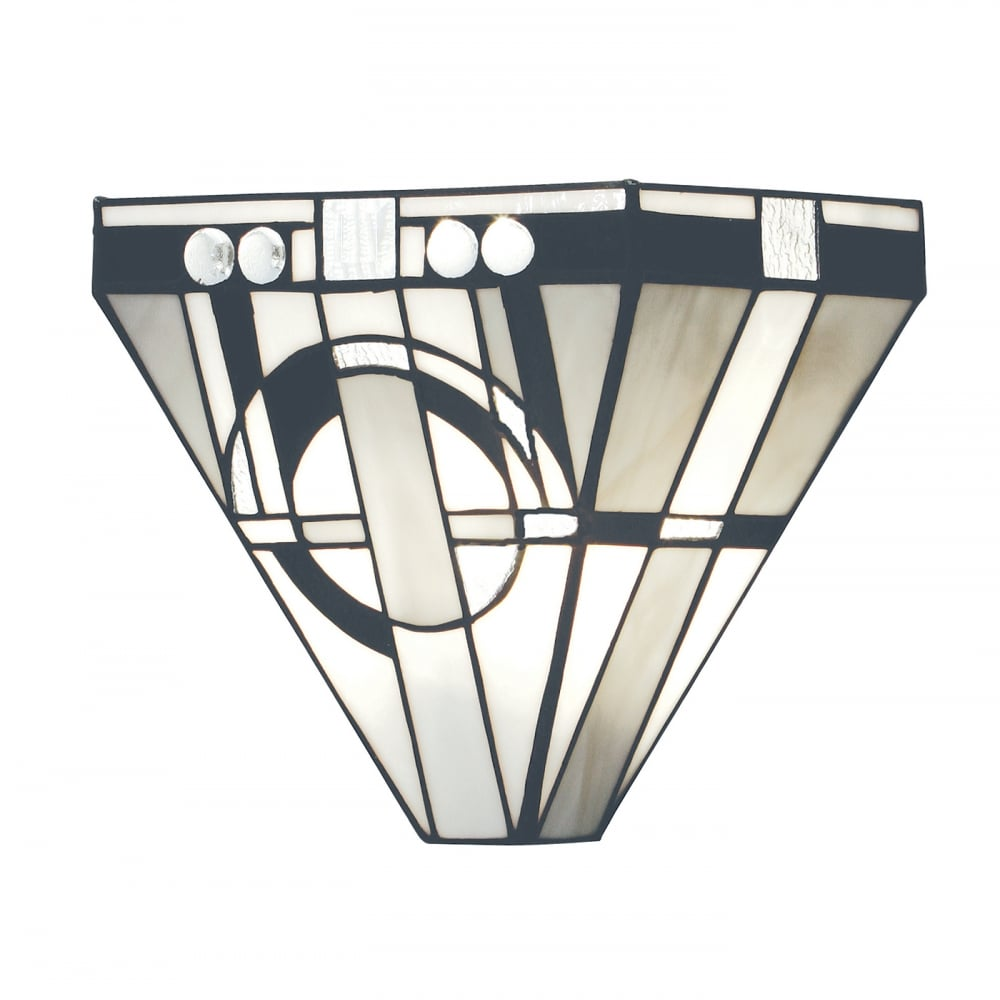 Deco Style Wall Lights : Art Deco Wall Washer Wall Light with Tiffany Stained Glass Shade