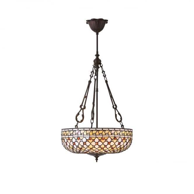 MILLE FEUX Tiffany uplighter ceiling pendant light