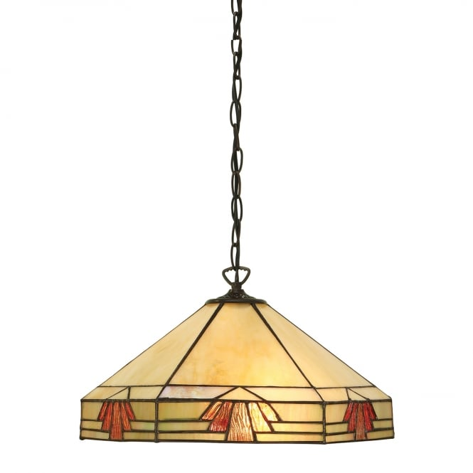 NEVADA Tiffany hanging pendant light in Art Deco style