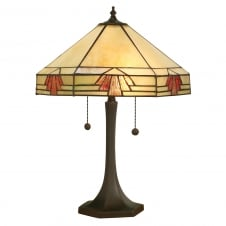 NEVADA Tiffany table lamp, large, Art Deco style