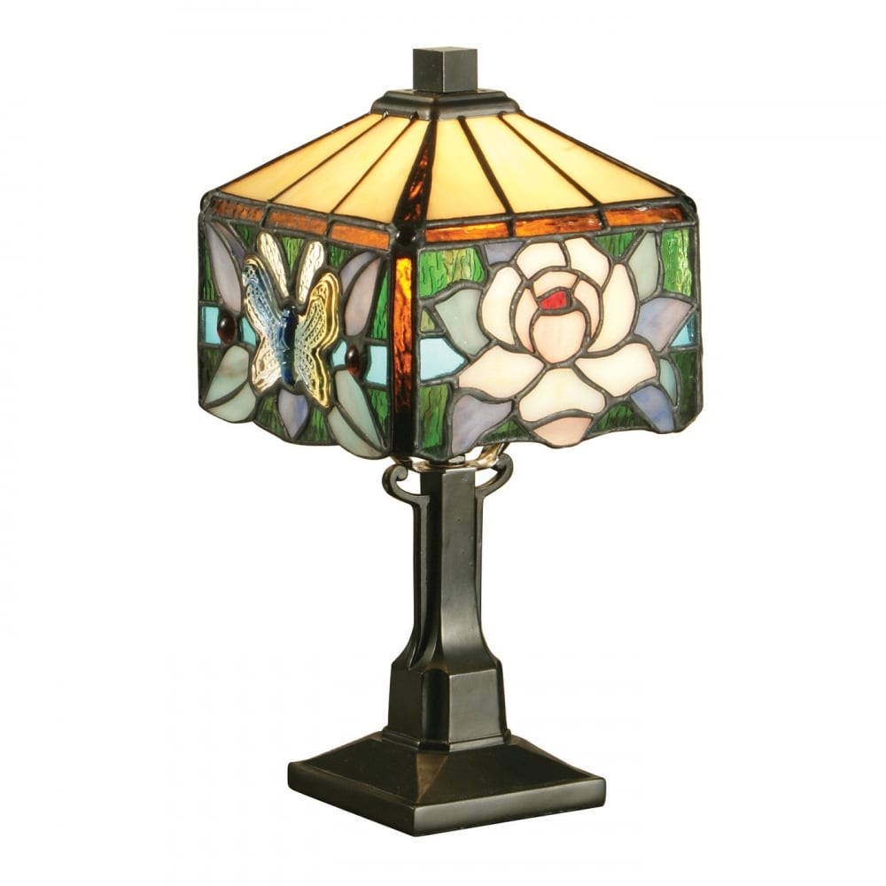 Small glass table lamps - Interiors 1900 Rochette Mini Tiffany Glass Table Lamp Art Nouveau Style