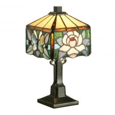 ROCHETTE mini Tiffany glass table lamp, Art Nouveau style