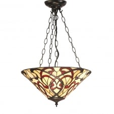 RUBAN Art Nouveau Inverted Ceiling Pendant