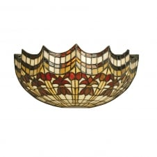 VESTA Tiffany glass wall light