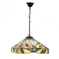 WILLOW large Art Nouveau style Tiffany ceiling pendant light