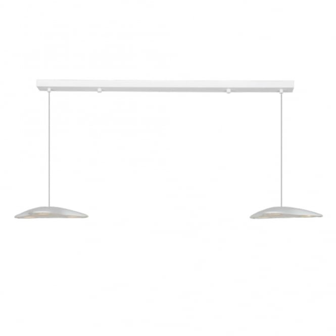 INVADOR LED 2 light white ceiling bar pendant