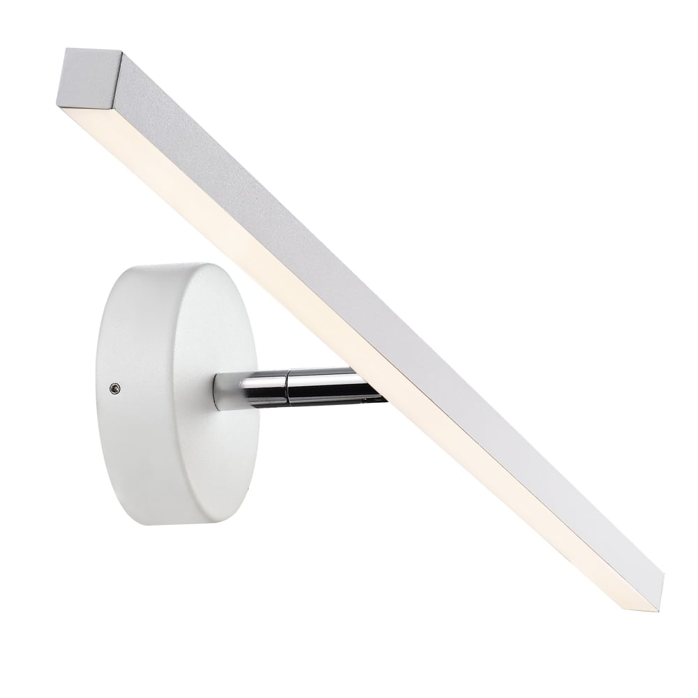 Modern LED Bathroom Over Mirror Wall Light in White Finish