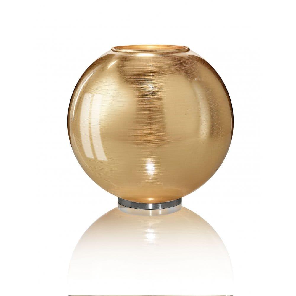 Italian gold glass globe shaped table lamp or floor light for Gold globe floor lamp